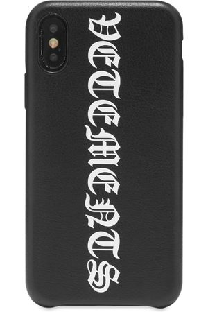 Vetements Men Phones Cases - Vertical Logo iPhone Xs Case