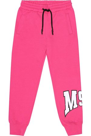 Msgm Logo cotton trackpants