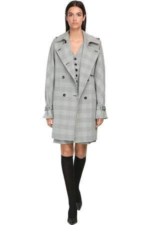 Max Mara Double Breasted Prince Of Wales Coat