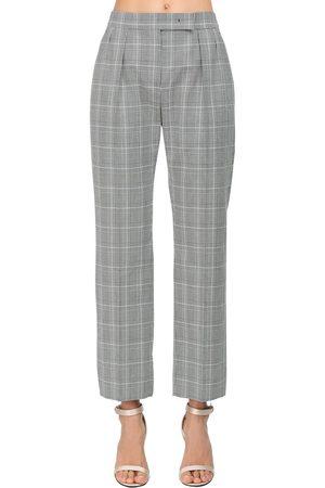 Max Mara Straight Cotton Prince Of Wales Pants