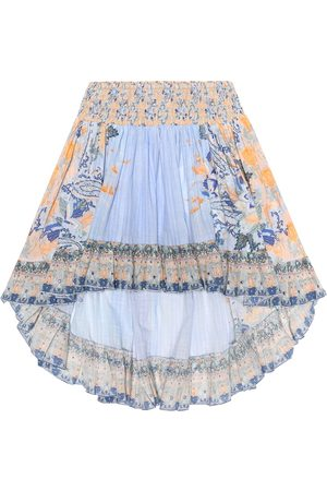 Camilla Embellished printed cotton skirt