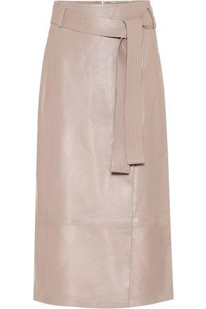 Zeynep Arcay High-rise leather midi skirt