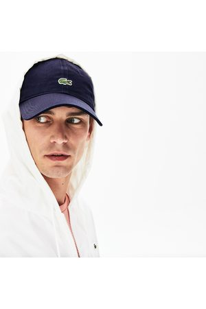 Lacoste Men's Contrast Strap And Crocodile Cotton Cap :