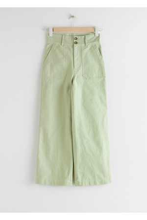 & OTHER STORIES Wide Leg Cotton Canvas Trousers