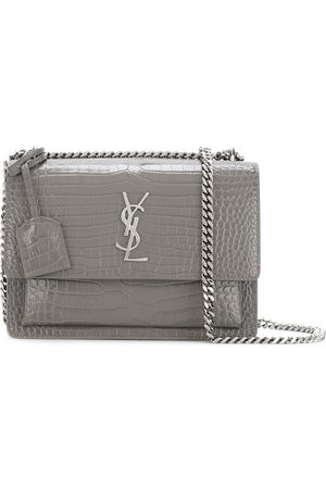 Saint Laurent Sunset Monogram chain wallet - Grey
