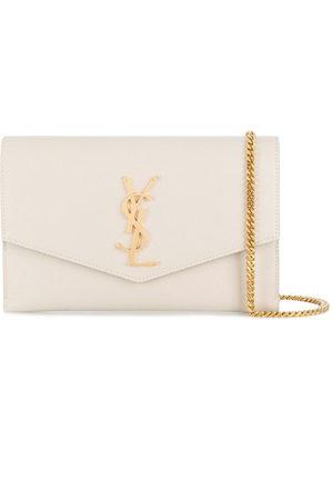 Saint Laurent Monogram envelope clutch bag - Neutrals