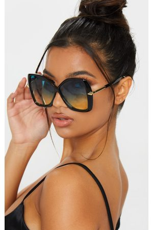 PRETTYLITTLETHING Oversized Angled Square Sunglasses