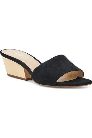 Botkier Women Sandals - Women's Carlie Suede Mid Heel Slide Sandals