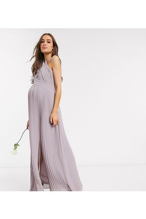 TFNC Maternity Bridesmaid exclusive pleated maxi dress in