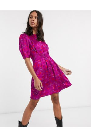 & OTHER STORIES & mouse face print puff sleeve mini dress in