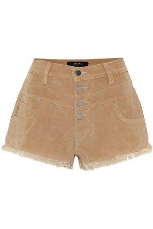 AMIRI High-rise corduroy shorts