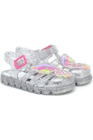 SOPHIA WEBSTER Butterfly glitter rubber sandals