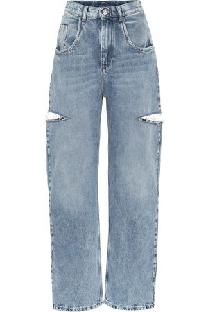 Maison Margiela Cut-out high-rise wide-leg jeans