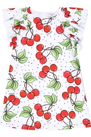 MONNALISA Cherry-print cotton dress