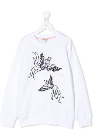Kenzo Kids Embroidered bird sweatshirt