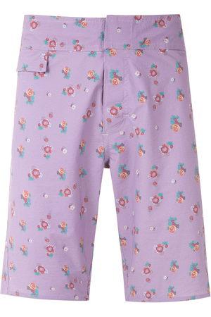 AMIR SLAMA Men Swim Shorts - Floral print swim short