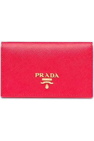 Prada Women Purses - Saffiano logo-plaque cardholder