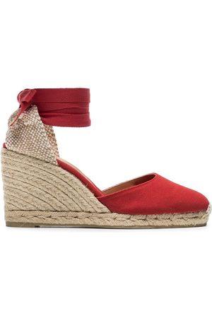 Castaner Women Wedges - Carina 80 cotton canvas wedge sandals