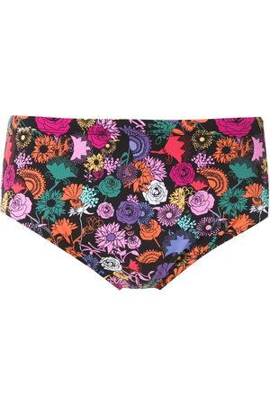 AMIR SLAMA Floral print swim trunks