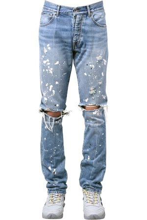 UNRAVEL Skinny Splatter Painted Denim Jeans