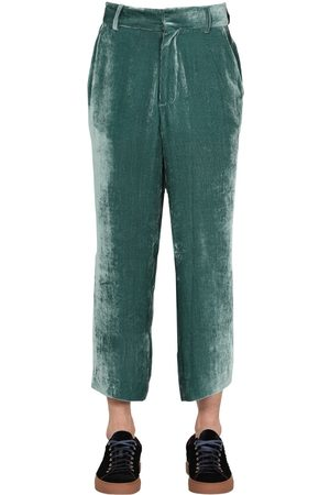 Sies marjan Cropped Viscose Blend Chenille Pants