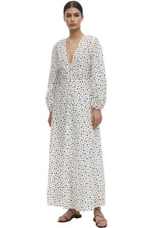 RIXO London Blair Printed Eyelet Lace Dress