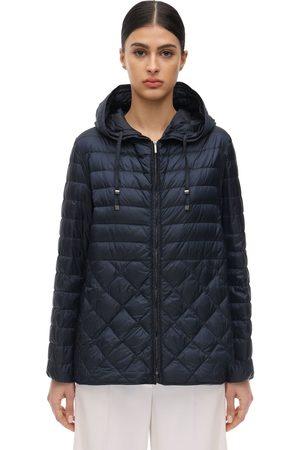 Max Mara Hooded Waterproof Nylon Down Jacket