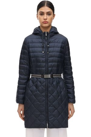 Max Mara Hooded Waterproof Nylon Down Coat