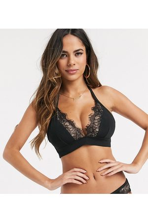 Wolf & Whistle Fuller Bust Exclusive triangle bikini top with lace in