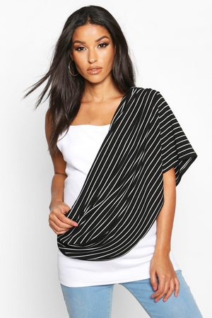 Boohoo Womens Maternity Stripe Nursing Shawl - - One Size