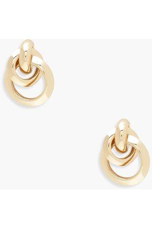 Boohoo Womens Multi Circle Linked Earrings - - One Size