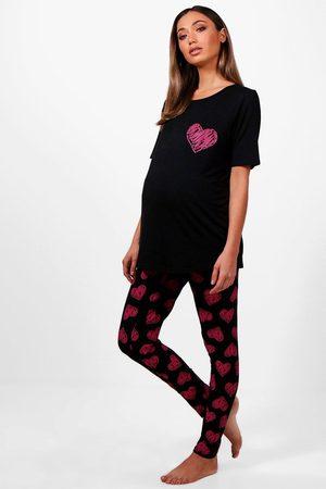 Boohoo Womens Maternity May Made With Love Pj Set - - 4