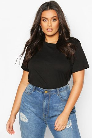 Boohoo Womens Plus Basic Scoop Neck T-Shirt - - 12