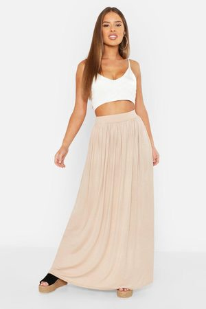 Boohoo Womens Petite Floor Sweeping Jersey Maxi Skirt - - 2