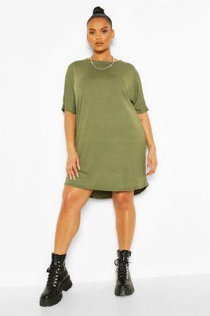 Boohoo Womens Plus Oversized T-Shirt Dress - - 12