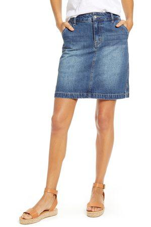 GIBSONLOOK Petite Women's Gibson X Hi Sugarplum! Positano Denim Skirt