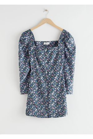& OTHER STORIES Button Up Puff Sleeve Mini Dress
