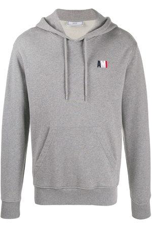 Ami Logo hoodie - Grey