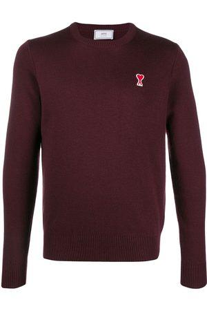 Ami Men Sweaters - De Coeur patch crew neck jumper