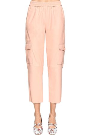 DROME High Waist Leather Cargo Pants