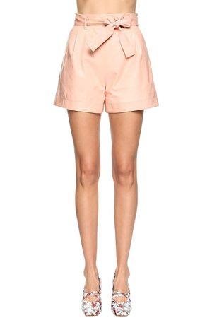 DROME High Waist Leather Shorts