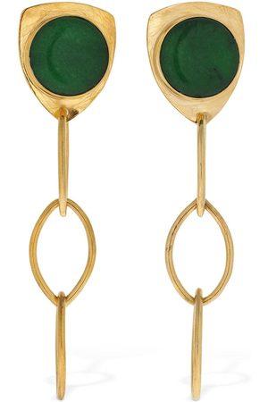 Liya Stone Chain Earrings