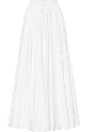 Alaïa Cotton-plissé midi skirt