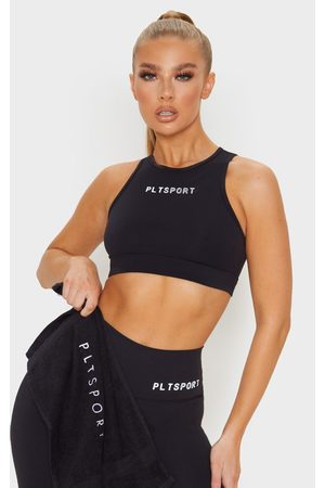 PRETTYLITTLETHING Sculpt Luxe Racer Neck Sports Top