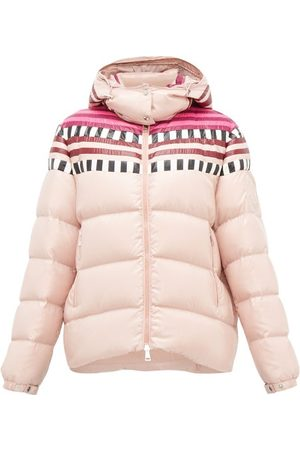 1 Moncler Pierpaolo Piccioli Evelyn Colour-block Down-filled Hooded Jacket - Womens - Light
