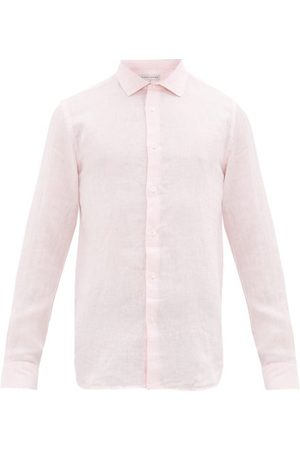 Orlebar Brown Men Long sleeves - Giles Linen Shirt - Mens