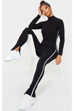 PRETTYLITTLETHING Women Jumpsuits - Sports Stripe High Neck Jumpsuit