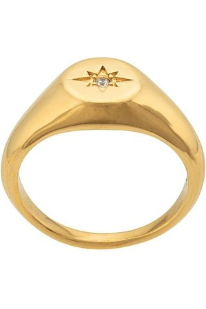 Nialaya Women Rings - Engraved star ring