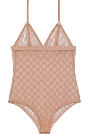 Gucci Women Bodies - GG tulle bodysuit
