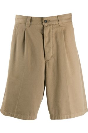 Ami Men Pleated Bermuda Shorts - Neutrals